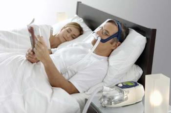 Man using CPAP